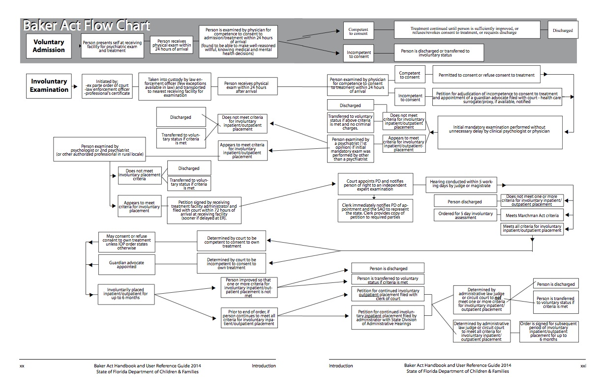 Baker Act Flow Chart - Tabloid